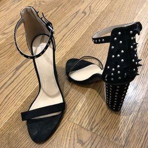 Zara Open Toe Black Heels - Size 8.5/9 Euro 39